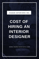 Cost of Hiring an Interior Designer